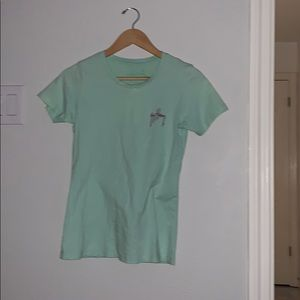 Mint green and pink guy harvey tee